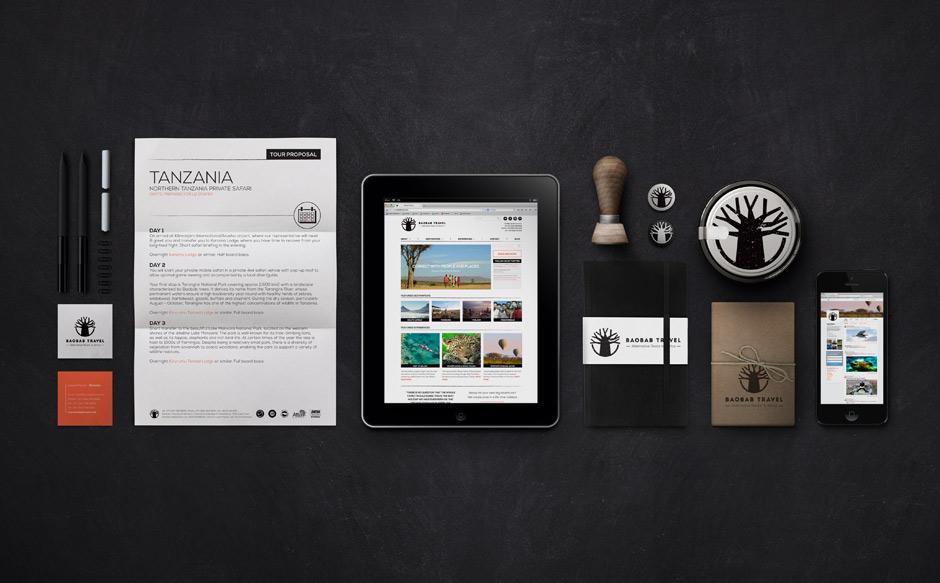 sale retailer 67bcd fc601 Baobab Travel Rebranding Corporate Identity   K i   Branding   Website