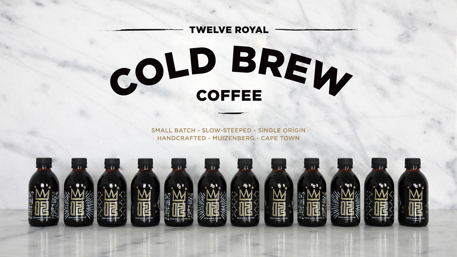 twelve royal cold brew coffee identity packaging and website k i
