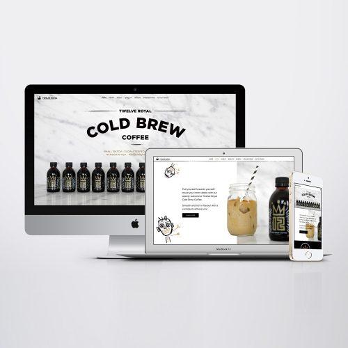 cold brew coffee responsive website design